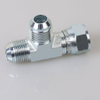 CJ JIC MALE 74° CONE/ JIC FEMALE 74°SEAT RUN TEE male female pipe fittings